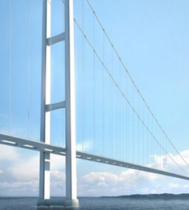 [worldsteel] World's Longest Suspension Bridge Will Connect Europe and Asia